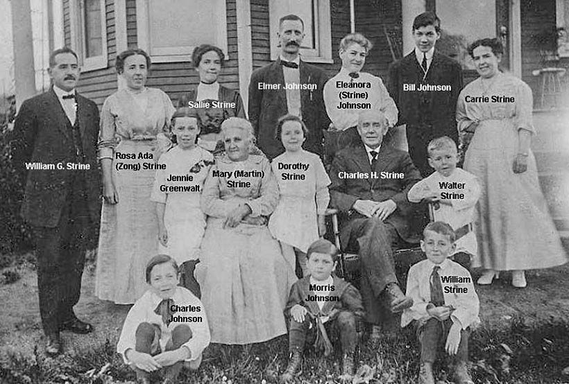 Charles H. Strine family